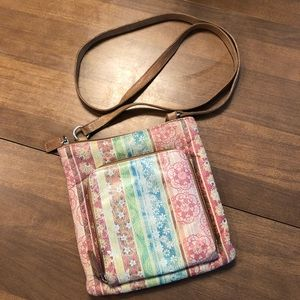 Fossil Crossbody w/ Built-in Wallet Multi-Colored